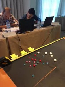 Design of Experiments class practical exercise with John Dennis as trainer at The Navigator Company, Setubal, Portugal