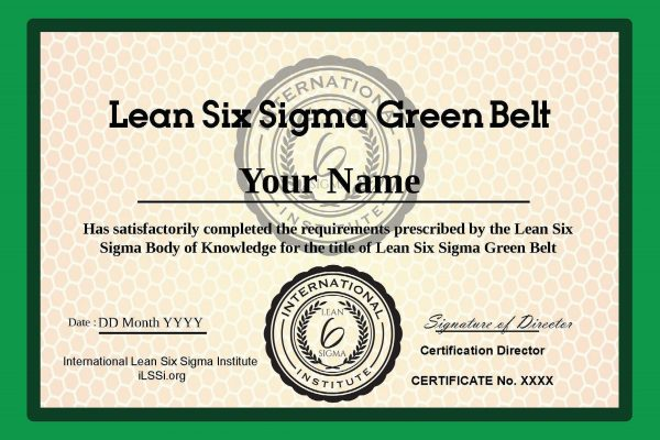 ILSSI Lean Six Sigma Accredited Green Belt Certification