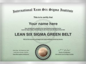 Green Belt Certificate