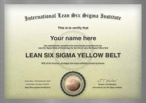 Yellow Belt Certificate